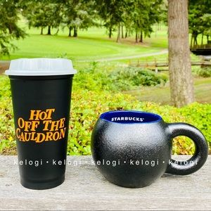 🖤NEW SET🎃Starbucks Cauldron Mug & Hot Cup Bundle